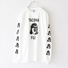 TACOMA FUJI RECORDS (タコマフジレコード)L/S Tシャツ TACOMA FUJI LOGO MARK ホワイト
