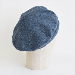 フランスKanopi(カノピ)Le Beret Francais Printemps ブルージーン(コットンリネンベレー帽)