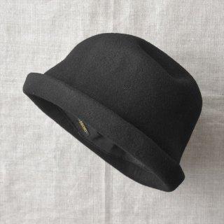 Decho(デコー)WOOL FELT HAT ブラック(ウールフェルト)
