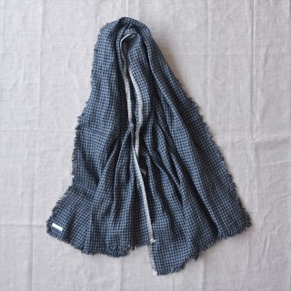Fog linen work(フォグリネンワーク)トゥズ フリンジスカーフ エマ(赤白ギンガム)
