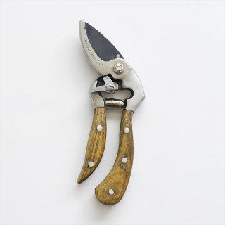【ワケあり蚤の市】イギリスJoseph Bentley(ジョセフベントレー)ウッドハンドルC/Sアングル剪定鋏 M