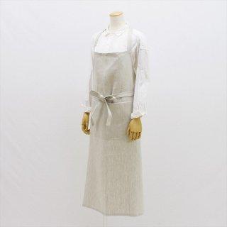 Fog linen work(フォグリネンワーク)アトリエデニムエプロン オフホワイト(厚地リネンデニム)