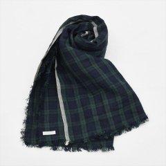 Fog linen work(フォグリネンワーク)トゥズ フリンジスカーフ ジェームズ(タータンチェック)