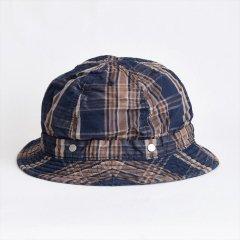 Decho(デコー)SHALLOW KOME HAT ネイビー(コットン/リネン)