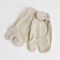 Napron(ナプロン)LINEN TABI FOOT COVER ベージュ(綿麻)