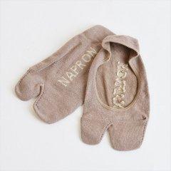 Napron(ナプロン)LINEN TABI FOOT COVER ブラウン(綿麻)