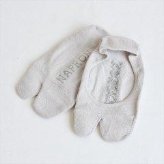 Napron(ナプロン)LINEN TABI FOOT COVER グレー(綿麻)