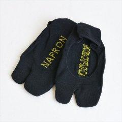 Napron(ナプロン)LINEN TABI FOOT COVER ブラック(綿麻)