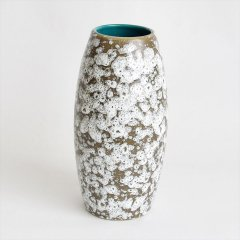 [1960-70's Vintage] Scheurich Fat Lava Vase White/Brown/Blue-green(ファットラヴァ, 西ドイツ)
