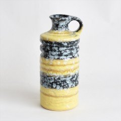 [1960-70's Vintage] VEB Haldensleben Keramik Vase Yellow/Black/White(DDR 東ドイツ)