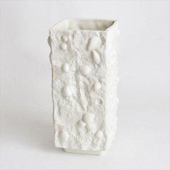 [1960's Vintage] Ilmenau fossil White Bisque Vase 化石モチーフ(DDR 東ドイツ)