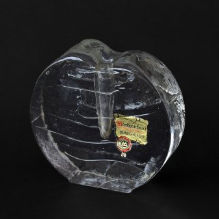 西ドイツIngrid Glas(イングリッドグラス) OP ART(オプアート)ガラス製フラワーベース(1960〜70年代ヴィンテージ)