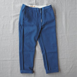 Another 20th Century(アナザートゥエンティースセンチュリー)Yorkshire Daily Pants コバルト(リネンコットン)