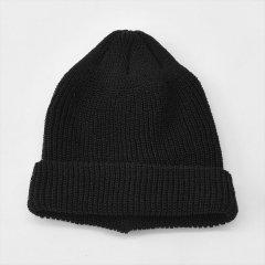Decho(デコー)LINEN KNIT CAP ブラック(リネン/コットン)
