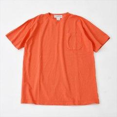Sassafras(ササフラス)CHOP CORNER POCKET T(半袖Tシャツ)オレンジ