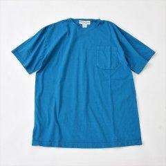 Sassafras(ササフラス)CHOP CORNER POCKET T(半袖Tシャツ)ターコイズ