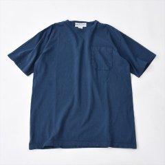 Sassafras(ササフラス)CHOP CORNER POCKET T(半袖Tシャツ)ネイビー