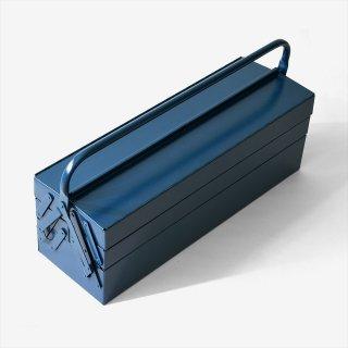 ドイツhünersdorff(ヒューナースドルフ)METAL TOOL BOX 5-PART(道具箱)ブルー