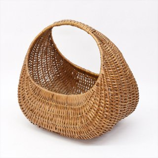 [Vintage] French Old Willow Basket(フランスの古いウィローバスケット)