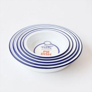 [Deadstock] イギリス Falcon(ファルコン)Enamel Pie Dish 5皿セット(琺瑯パイ皿)