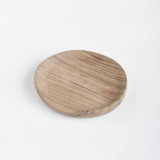 モロッコのウォルナット(くるみ)丸皿 13cm �