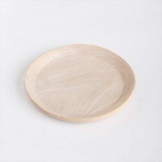 モロッコのウォルナット(くるみ)丸皿 16cm �
