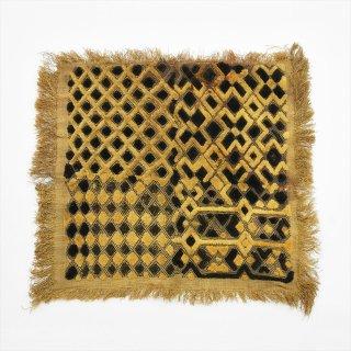 アフリカコンゴ Old Bushoong Kuba Cloth D(クバ布/草ビロード)