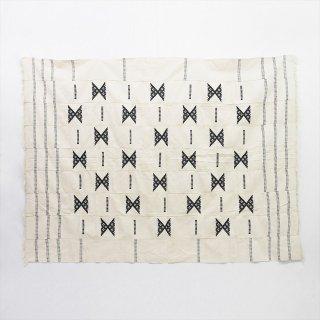 ブルキナファソ 刺繍布 200×160cm(ブランケット)B