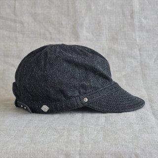 DECHO(デコー)KOME CAP ブラックデニム