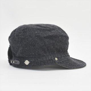 DECHO(デコー)SERVICE CAP ブラックデニム