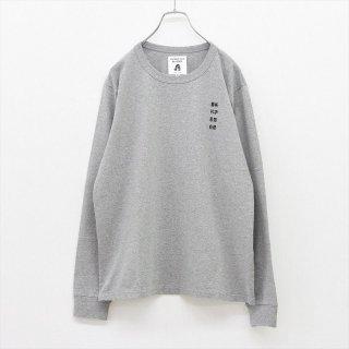 TACOMA FUJI RECORDS (タコマフジレコード)藝術科学思想自然 embroidery LS shirt ヘザーグレー