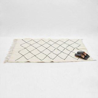 モロッコ ベニワレン ラグマット 150x95(綿ウール混)A
