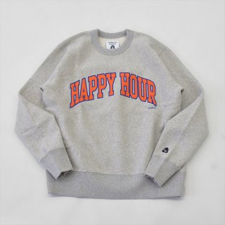 Tacoma Fuji Records(タコマフジレコード)HAPPY HOUR COLLEGE LOGO SWEAT designed by Shuntaro Watanabe