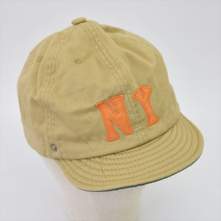 DECHO (デコー)× EBETTSFIELD(エベッツフィールド, US)NEGRO BALL CAP -NY- ベージュ