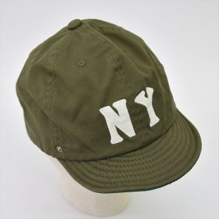 DECHO (デコー)× EBETTSFIELD(エベッツフィールド, US)NEGRO BALL CAP -NY- オリーブ