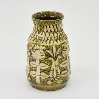 [1960-70's Vintage] BAY keramik製 Flower Vase オリーブグリーン(西ドイツ)