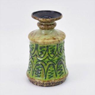 [1960's Vintage] VEB Strehla Keramik製 Fat Lava(ファットラヴァ)グリーンアブストラクト