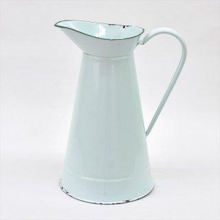 [ UK Vintage ] イギリスの古いエナメル(琺瑯)ジャグL アクアグリーン
