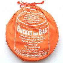 イギリスBurgon & Ball(バーゴン&ボール)ポップアップバケツ11L|オレンジ