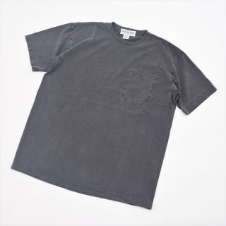 Sassafras(ササフラス)CHOP CORNER POCKET T 1/2 ブラック(ウォッシュド)