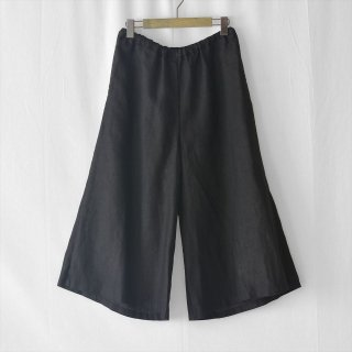 Fog linen work(フォグリネンワーク)デビー ワイドパンツ ブラック(普通地リネン)