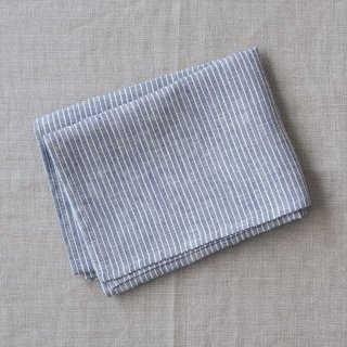 Fog linen work(フォグリネンワーク)普通地リネンキッチンクロス グレー/ホワイトストライプ