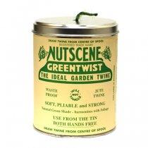イギリスNutscene(ナッツシーン)缶入り麻ひもスプール150m|グリーン