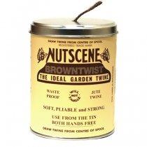 イギリスNutscene(ナッツシーン)缶入り麻ひもスプール150m|ブラウン