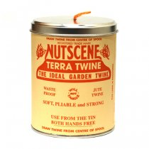 イギリスNutscene(ナッツシーン)缶入り麻ひもスプール150m|テラコッタ