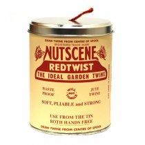 イギリスNutscene(ナッツシーン)缶入り麻ひもスプール150m|レッド