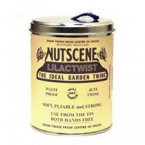 イギリスNutscene(ナッツシーン)缶入り麻ひもスプール150m|ライラック