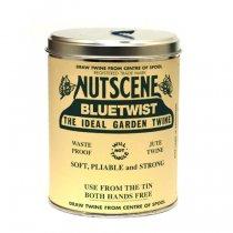 イギリスNutscene(ナッツシーン)缶入り麻ひもスプール150m|ブルー