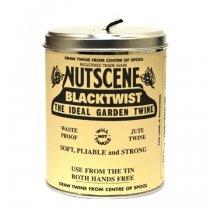 イギリスNutscene(ナッツシーン)缶入り麻ひもスプール150m|ブラック