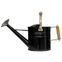 イギリスHaws(ホーズ)木製ハンドルトラディショナルカン4.5L ブラック(ブリキジョーロ )